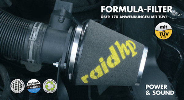 raid hp Sportluftfilter Formula für Peugeot 106 205 206 307